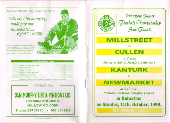 1998 Duhallow Junior Football Semi