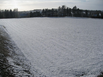 New field full of snow